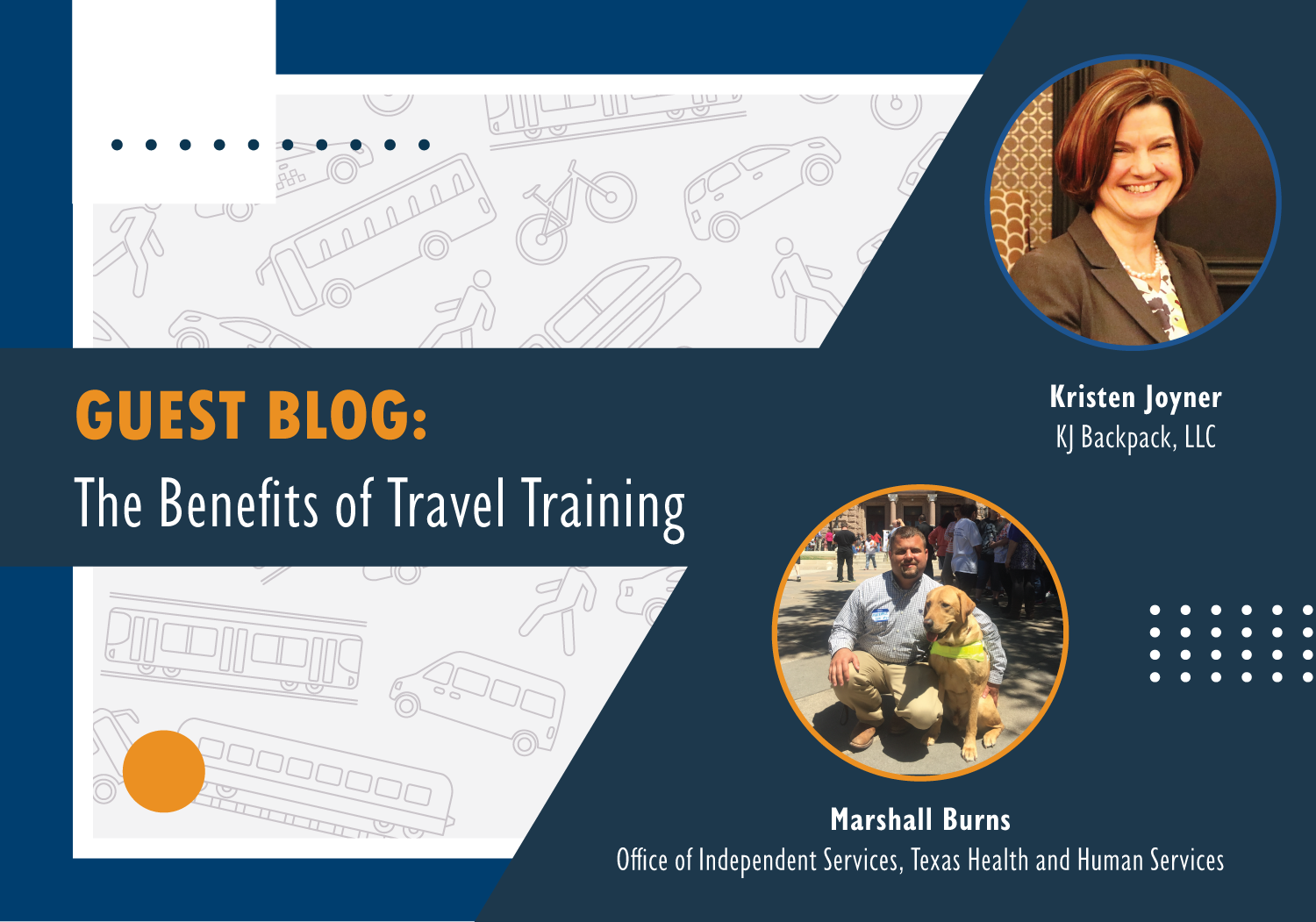"Blog graphic: Headline reads ""Guest Blog: The benefits of travel training"""